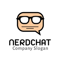 Nerd chat design vector