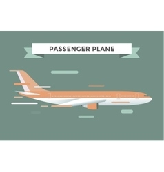 Civil aviation travel passanger air plane vector