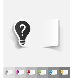 Realistic design element light bulb with a vector