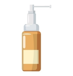 Medicine bottle of spray icon cartoon style vector