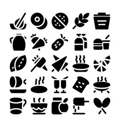 Food icons 6 vector