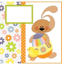 Cute template for easter greetings card vector
