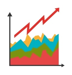 Growth graphic statistics colorful icons isolated vector