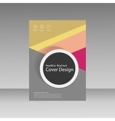 Abstract brochure design modern cover backgrounds vector