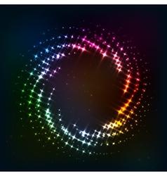 Abstract circle shining lights frame vector