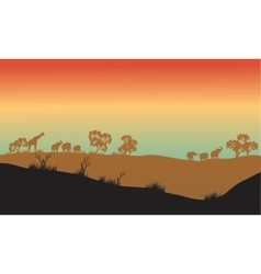 Beautiful scenery in africa park vector