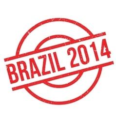 Brazil 2014 rubber stamp vector