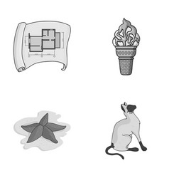 Building travel and other monochrome icon in vector
