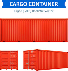 Cargo Freight Container vector image