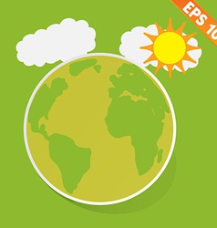Cartoon with green ecology - - eps10 vector