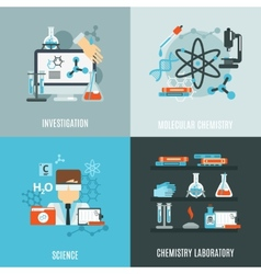 Chemistry flat set vector
