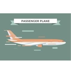 Civil aviation travel passanger air plane vector image vector image