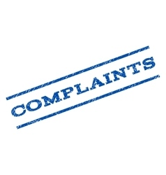 Complaints watermark stamp vector