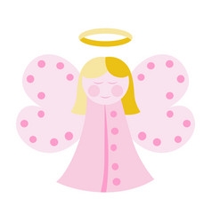 cute angel in pink vector image vector image