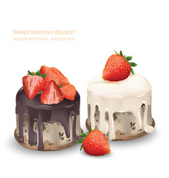 Delicious sweets and desserts chocolate and vector