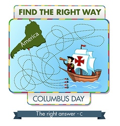 Find the right way vector image