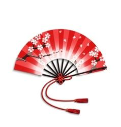 Japanese folding fan vector
