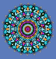 Mandala round ornament patterngeometric circle vector