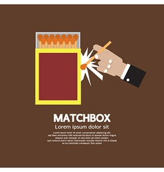 Matchbox container vector