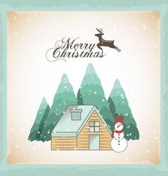 Merry christmas decoration card vector