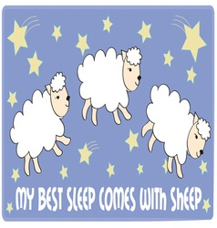 My Best Sleep vector image vector image
