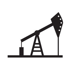 Oil pump icon on white background oil pump sign vector