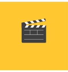 Open movie clapper board template icon Flat design vector image vector image