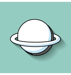 Planets education space line icon vector