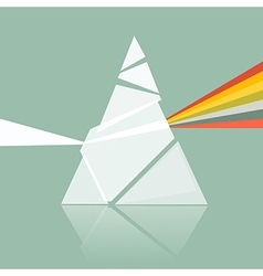 Prism spectrum on retro background vector