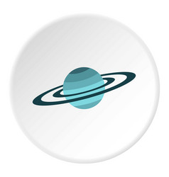saturn icon circle vector image vector image
