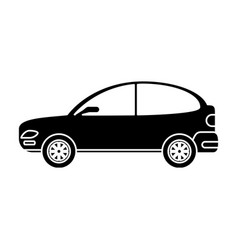 Silhouette car coupe parking lot vector