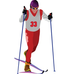 snow skiing vector image vector image