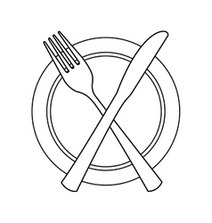 table cutlery isolated icon design vector image vector image