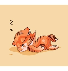 Tiger cub asleep vector