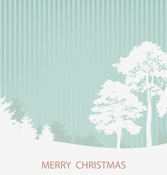 with the Christmas wood vector image vector image
