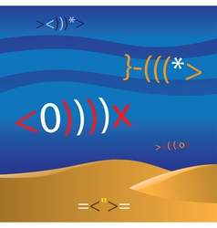 mathematic fish vector image