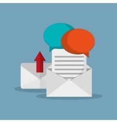 Mail messaging related icons vector