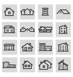 line house icons set vector image