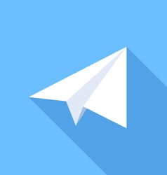 Paper plane flat icon vector