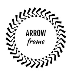 circle frames or borders made of arrows symbols vector image