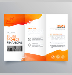 Stylish creative business trifold brochure vector