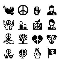 Peace icon vector