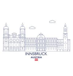 Innsbruck city skyline vector