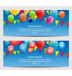 Color glossy balloons card background vector
