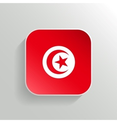 Button - tunisia flag icon vector