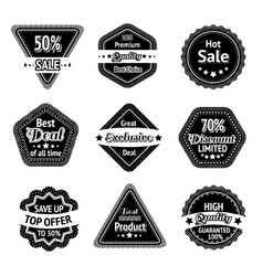 Sale tags and stickers set vector