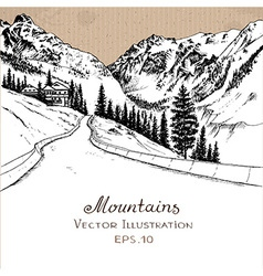 Mountainroad vector