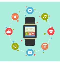 Smart watch gadget vector