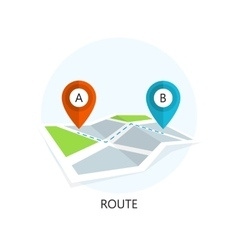Route icon flat design vector