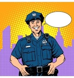 Good cop police vector